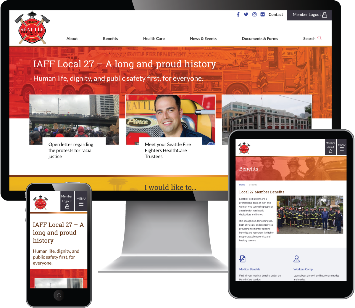New Responsive Layout for website